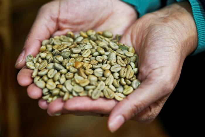 Coffee beans will be roasted over charcoal