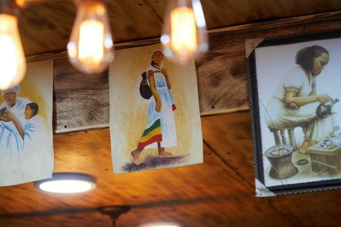 Artwork seen on the Ethiopian Flavours tour