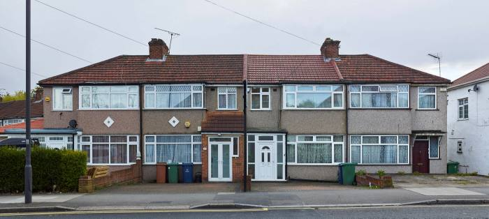 Suburban houses in Queensbury, north-west London