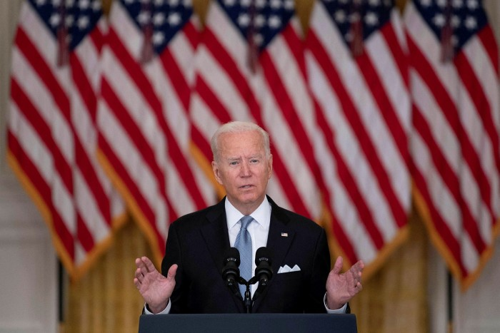 Joe Biden delivers a nationally televised address on the pullout from Afghanistan from the White House on Monday